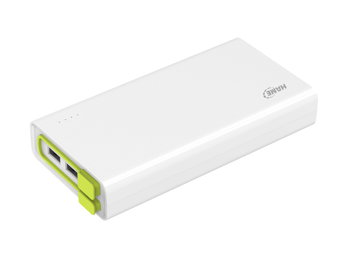 20000mAh Polymer Power Bank with Built-in Cable