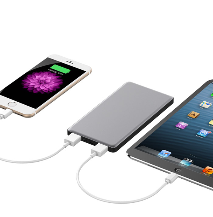5000mAh Ultra-Slim Metal Polymer Power Bank