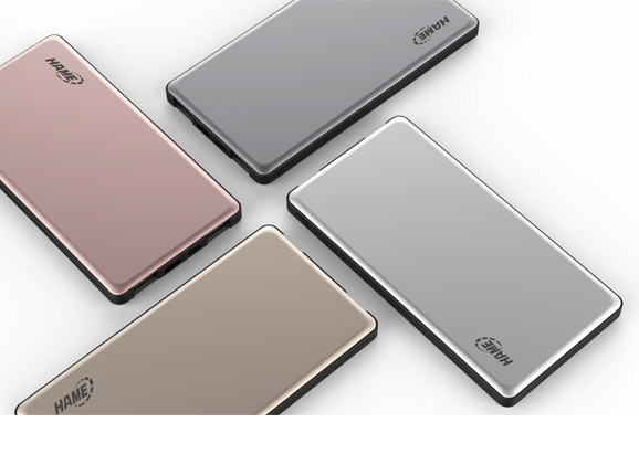 10000mAh Ultra-Slim Metal Polymer Power Bank